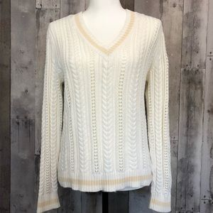 Vintage Ralph Lauren V-Neck Sweater Size Medium